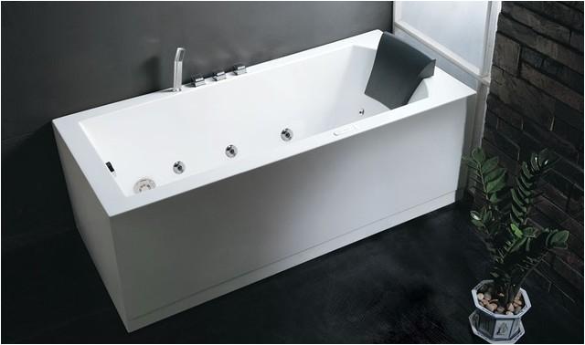 Eago AM154 Six Foot Rectangular Corner Whirlpool Tub modern bathtubs new york
