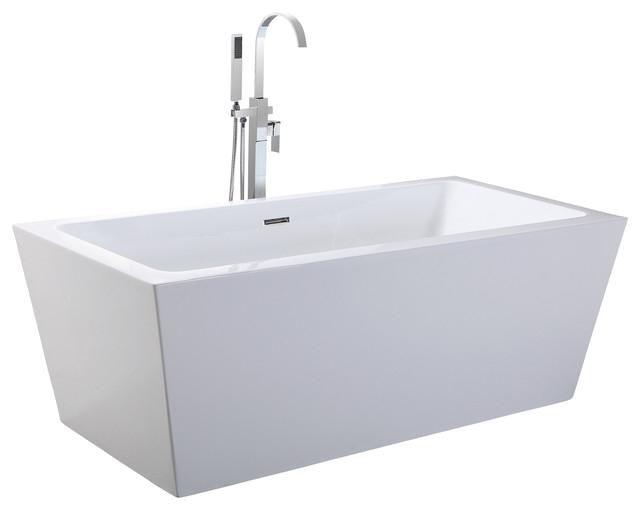 """Bathtubs Modern E Helixbath Centaur Freestanding Bathtub Acrylic 63"""" W"""