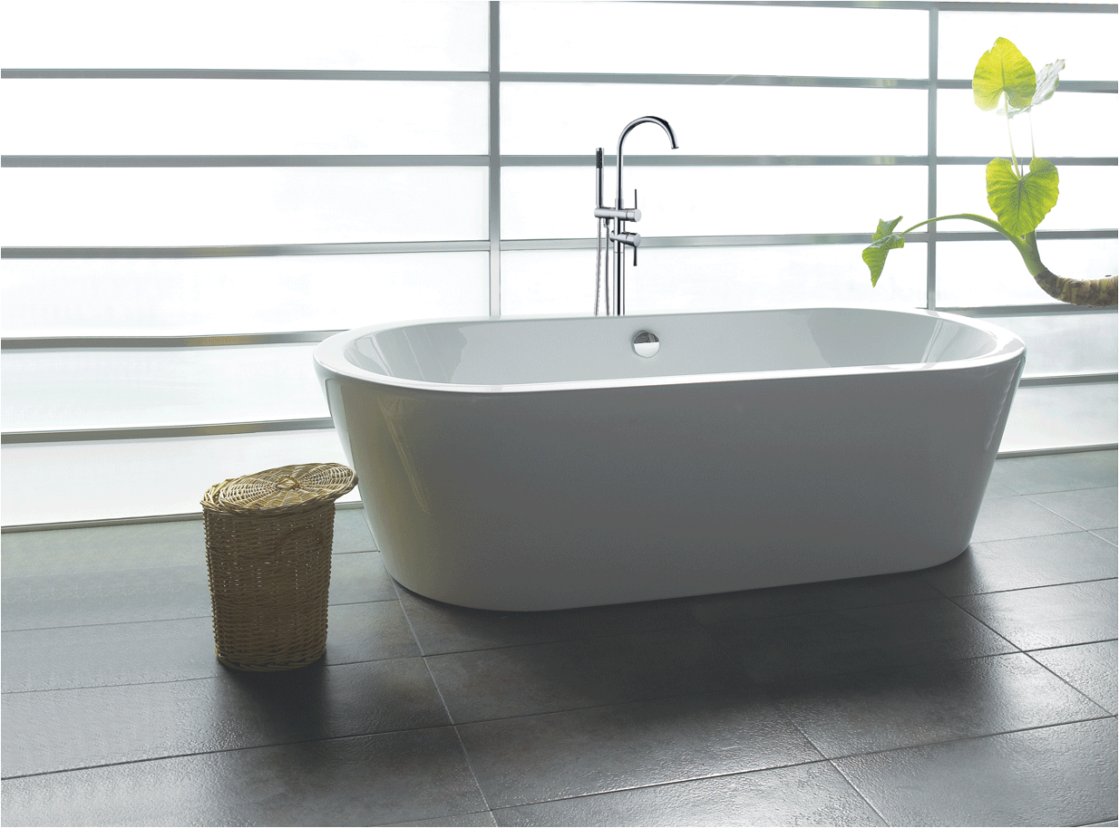 "Bathtubs Modern Vs 71"" Contemporary Bathroom White Acrylic Freestanding"