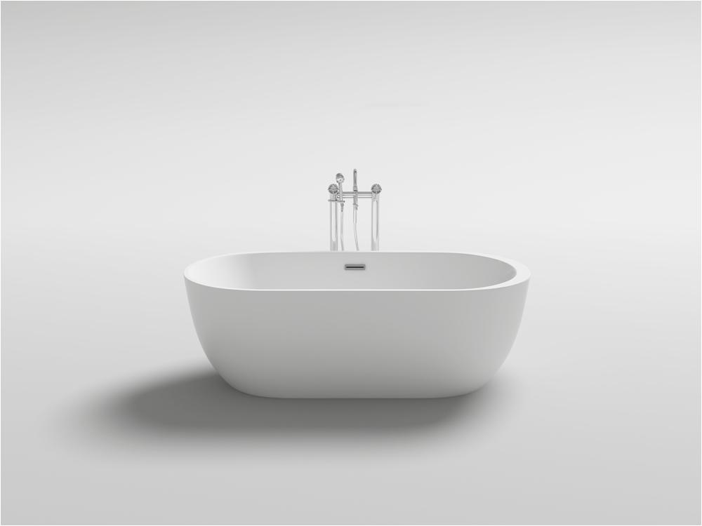 kbm freestanding modern seamless acrylic bathtub reno