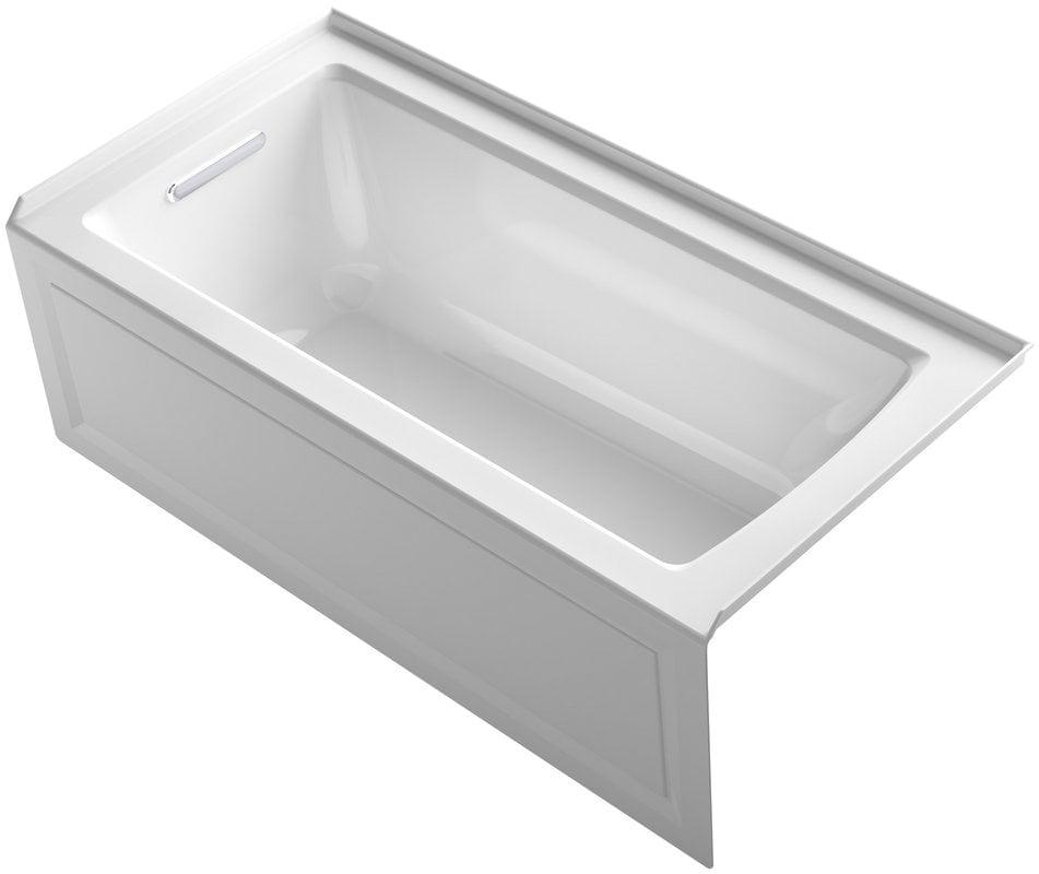 "Bathtubs soaking 0 Kohler Archer 60""x30""x19"" Three Wall Alcove soaking Tub"