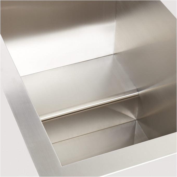 48 amery rectangular brushed stainless steel japanese style soaking tub