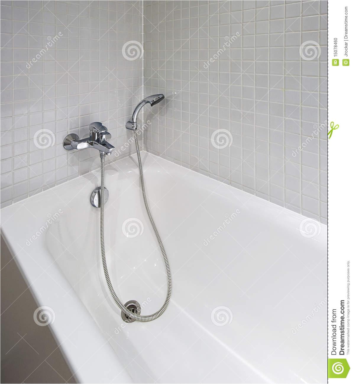 stock photo bath tub shower attachment image