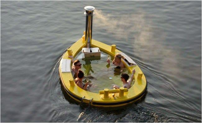 hottug mobile hot tub boat