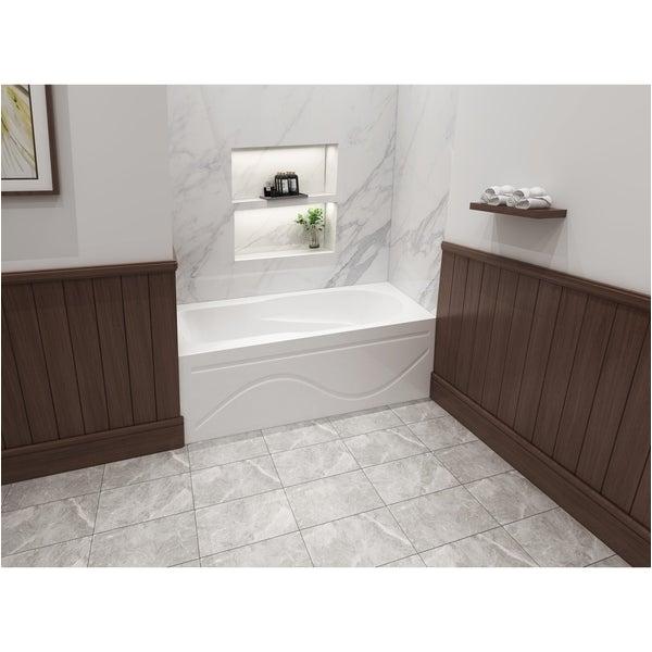 Bathtubs Under 60 Inches Shop 60 X 32 Inches Acrylic Deep soak Alcove Bathtub