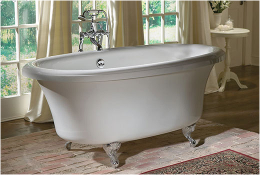 delilah 6638cf 66 inch dual ended air jetted clawfoot tub by aquatic w37air6638