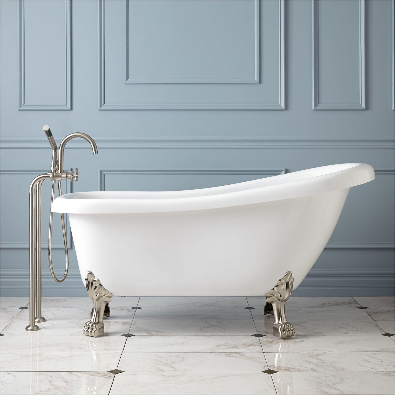 Bathtubs with Feet Edwin Acrylic Slipper Tub Lion Paw Feet Clawfoot Tubs