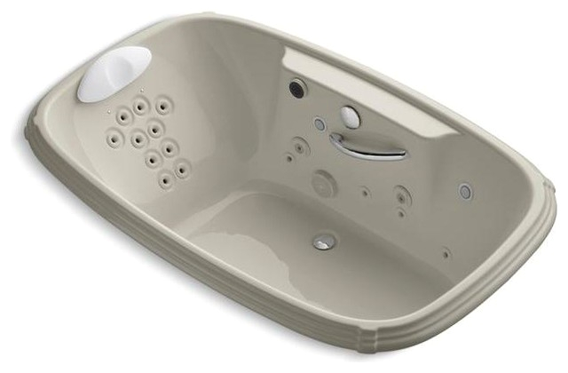 KOHLER Jetted Bathtubs Portrait 56 ft Whirlpool Tub in Sandbar K 1457 RV G9 contemporary bathtubs