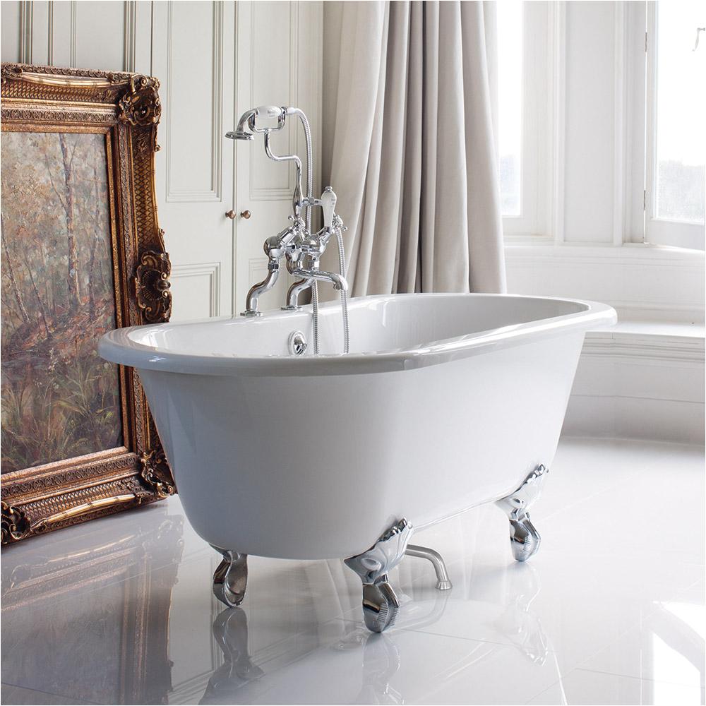 Bathtubs with Legs Burlington Windsor Double Ended Freestanding Bath