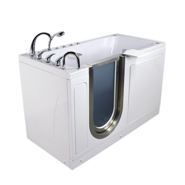 """Bathtubs with Walk-in Doors Ella Walk In Bath Ultimate 60"""" X 30"""" X 38"""" Sliding Door"""