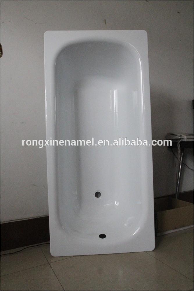 Bathtubs Zw Bathroom Tub Enamel Steel Plate Bathtub Hot Tubs with High