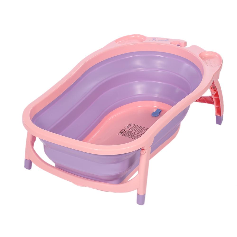 Best Portable Baby Bathtub 2019 Baby toddler Folding Bathtub Thickened with Sponge