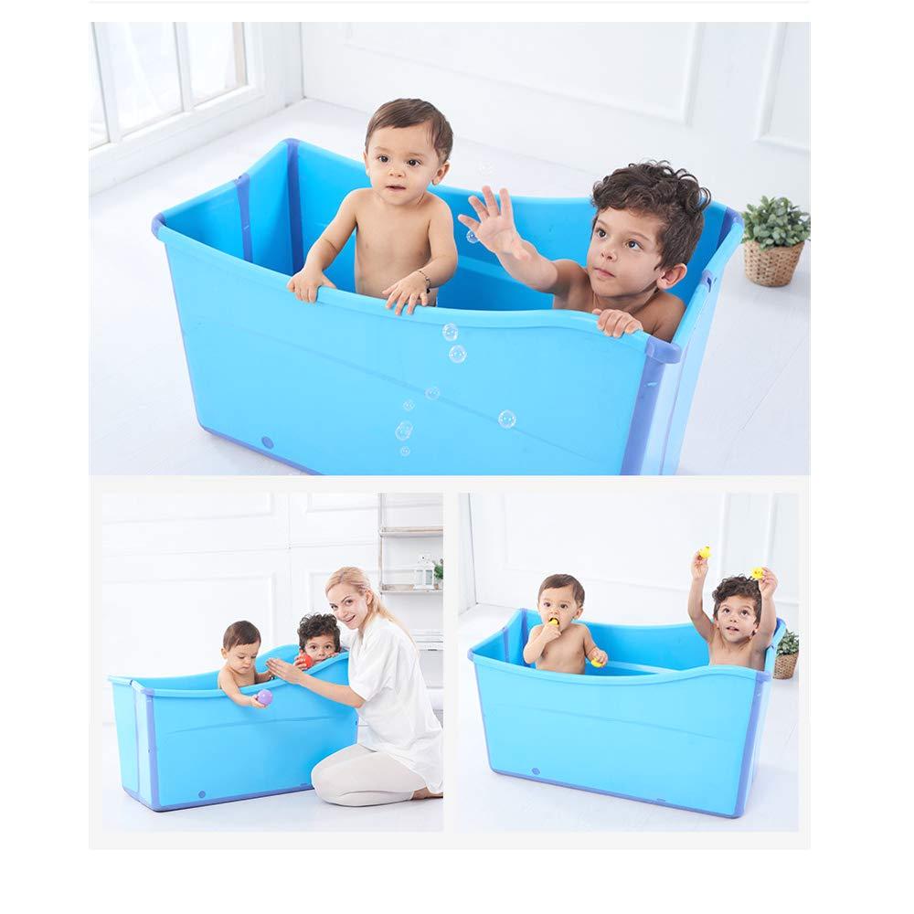 weylan tec large foldable bath tub bathtub for adult children baby toddler blue