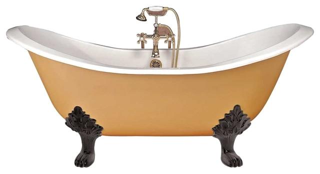claw foot tub white iron double slipper black feet traditional bathtubs