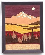 colorado marquetrywood inlaid sceneries