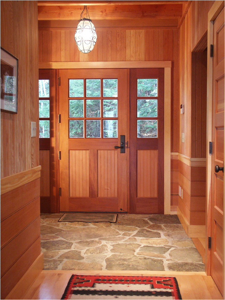 entryway flooring ideas entry rustic with baseboard beadboard cabin ceiling