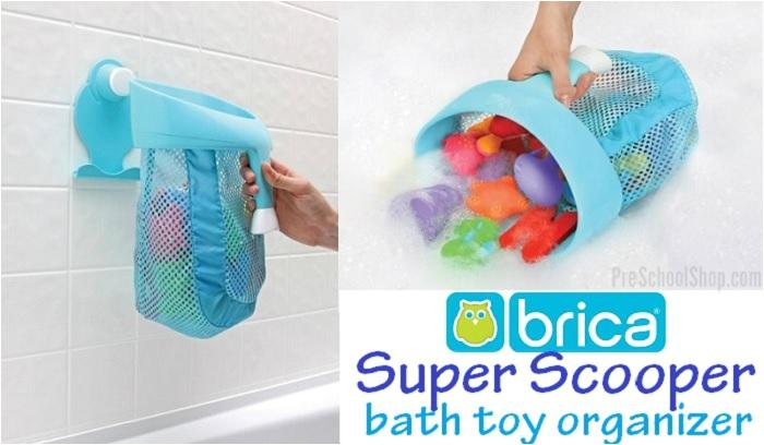 brica super scoop bath toy organizer