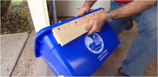 diy recycling bin wall hanger