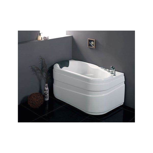 "Center Drain Alcove Bathtub Shop Eago Am175 R 57 1 8"" Acrylic Whirlpool Bathtub for"