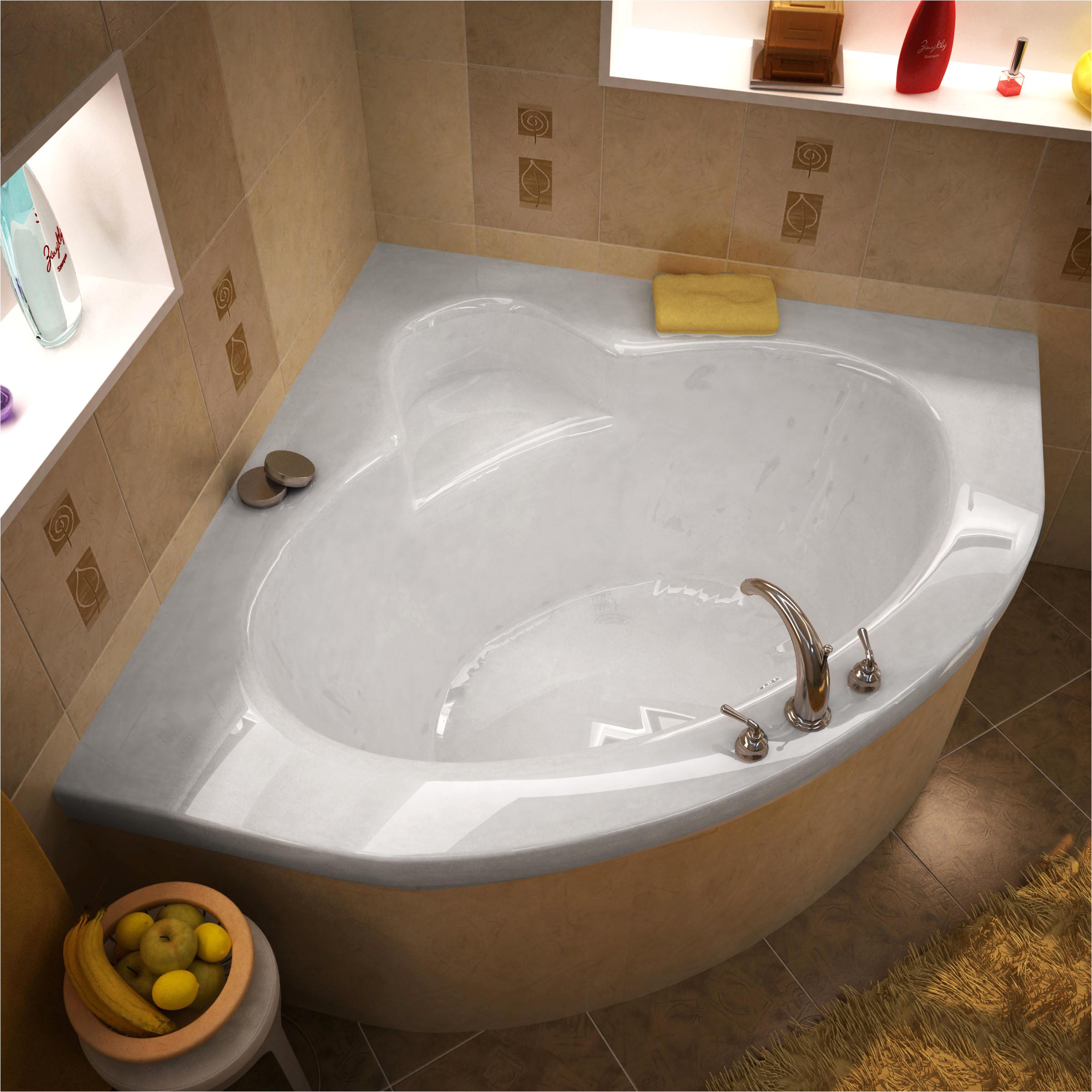 center drain bathtub 60