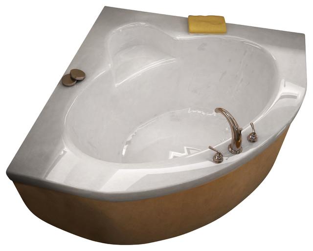 Venzi Esta 60x60 Corner Bathtub with Center Drain contemporary bathtubs