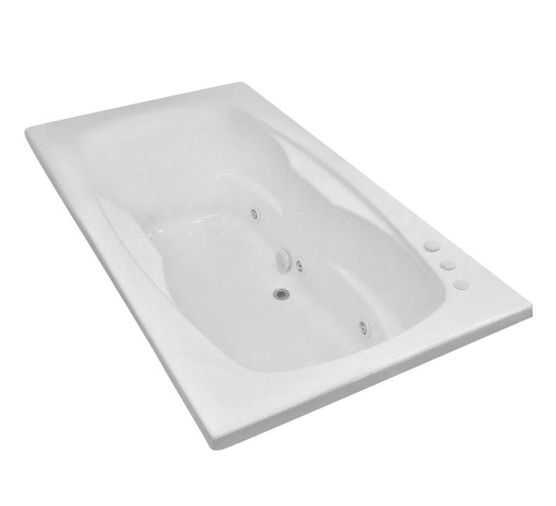 Center Drain Bathtubs Carver Tubs Ar7242 Jetted Whirlpool Bathtub W 6 Jets