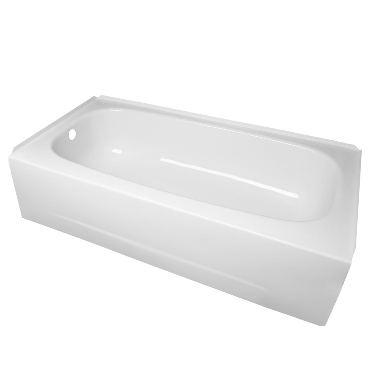 randolph morris 60 inch alcove bathtub lg60apron l drain