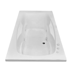 Center Drain Whirlpool Bathtubs Carver Tubs Ar7242 Jetted Whirlpool Bathtub W 6 Jets