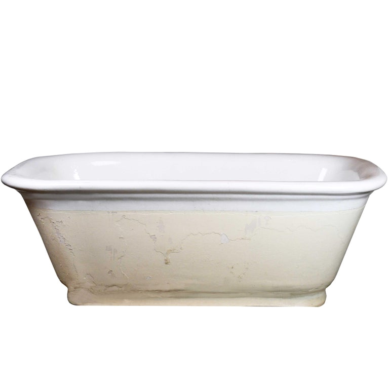 Ceramic Bathtubs for Sale Porcelain Center Drain Tub at 1stdibs
