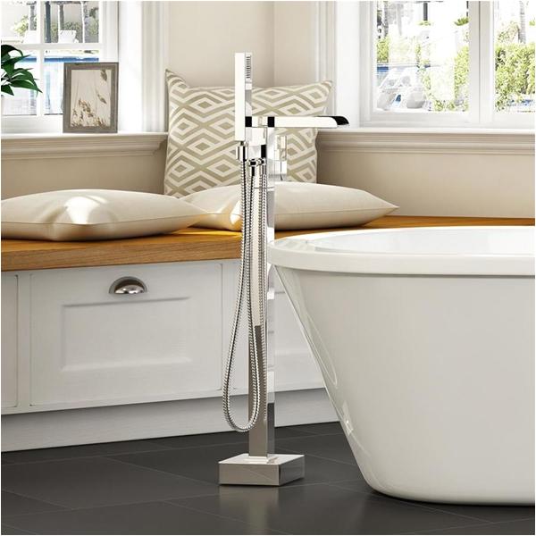 ove decors infinity chrome 1 handle adjustable freestanding bathtub faucet af=4360