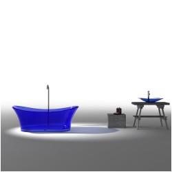 110 virta blue 6520 free standing glass bathtub