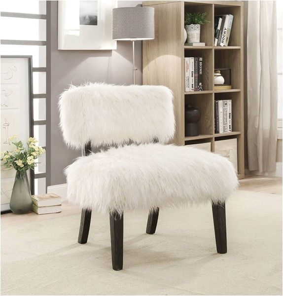 Furniture of America Pardeep White Accent Chair