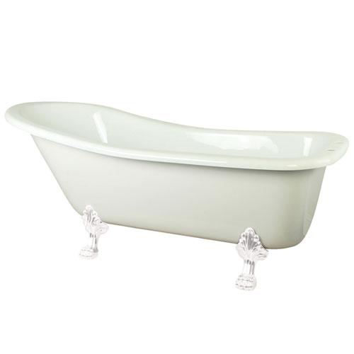 """Claw Foot Bath Acrylic 69"""" White Slipper Acrylic Claw Foot Bath Tub with"""
