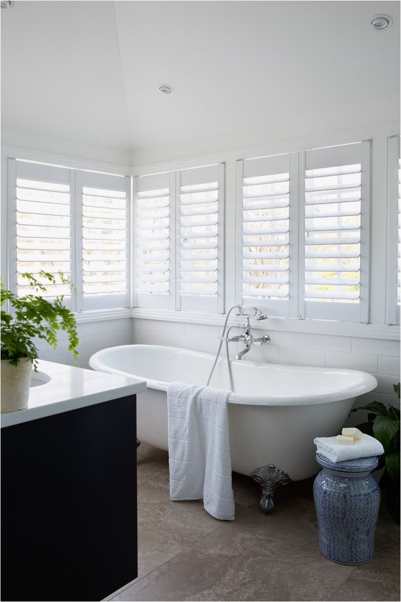Claw Foot Bath Brisbane Queenslander Style Bathroom White Shutters Claw Foot