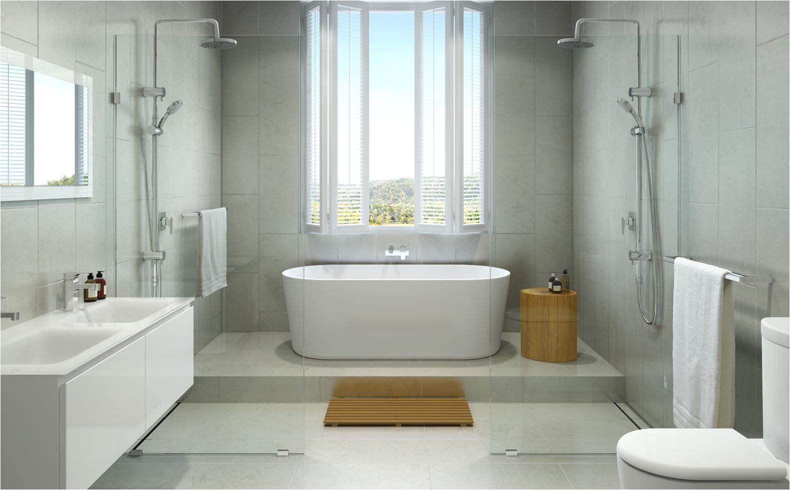 bath freestanding vs built