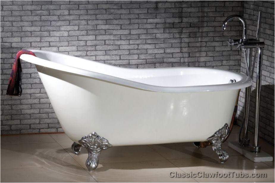 """Claw Foot Bath Resurfacing 61"""" Cast Iron Slipper Clawfoot Tub W Imperial Feet"""