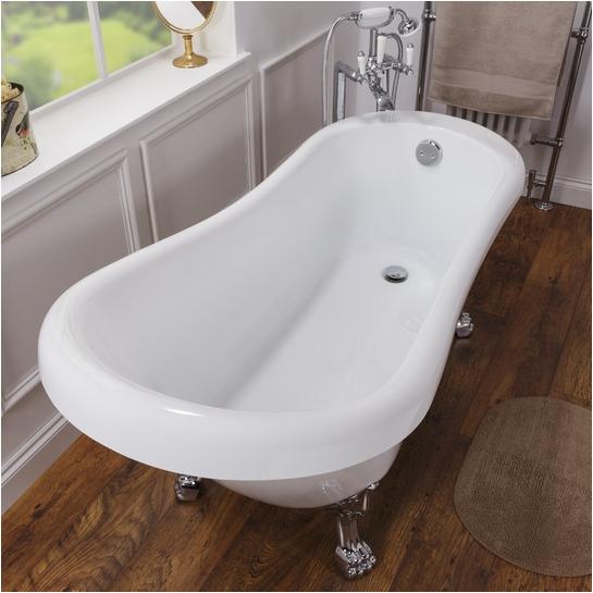 Claw Foot Bath Uk Malvern 1685mm Freestanding Bath Exposed Waste Claw Feet