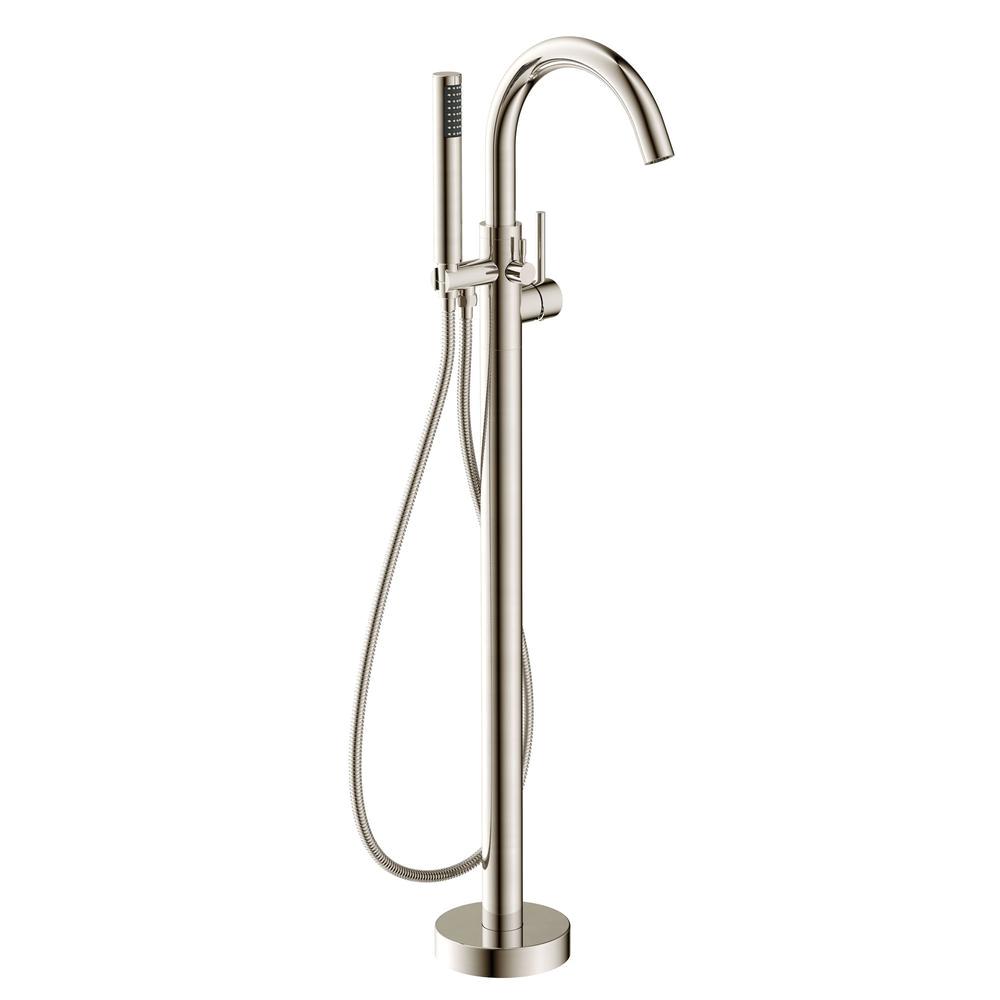 Claw Foot Bathtub Faucet Anzzi Kros Series 2 Handle Freestanding Claw Foot Tub