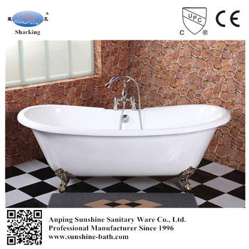 Popular claw foot enamel bathtub two