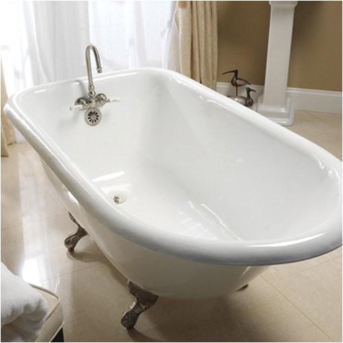 barclay 60 inch cast iron roll top clawfoot tub traditional bathtubs