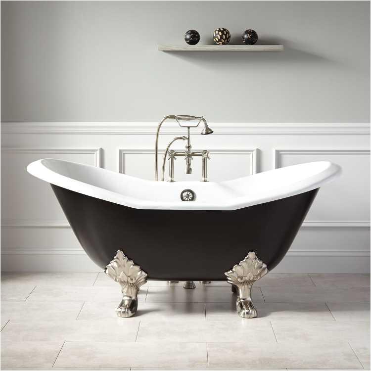 black clawfoot bathtub