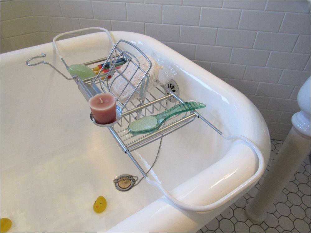 Clawfoot Bathtub Caddy Clawfoot Tub Shelf Caddy Candle Book & Wine Glass Holder
