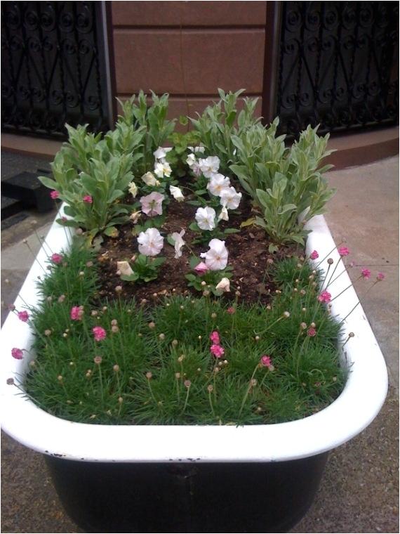 bathtub flower beds