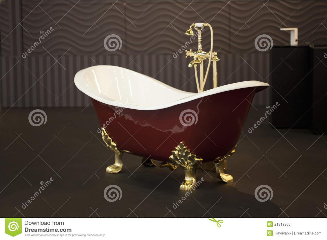 royalty free stock photo gold clawfoot bath tub image