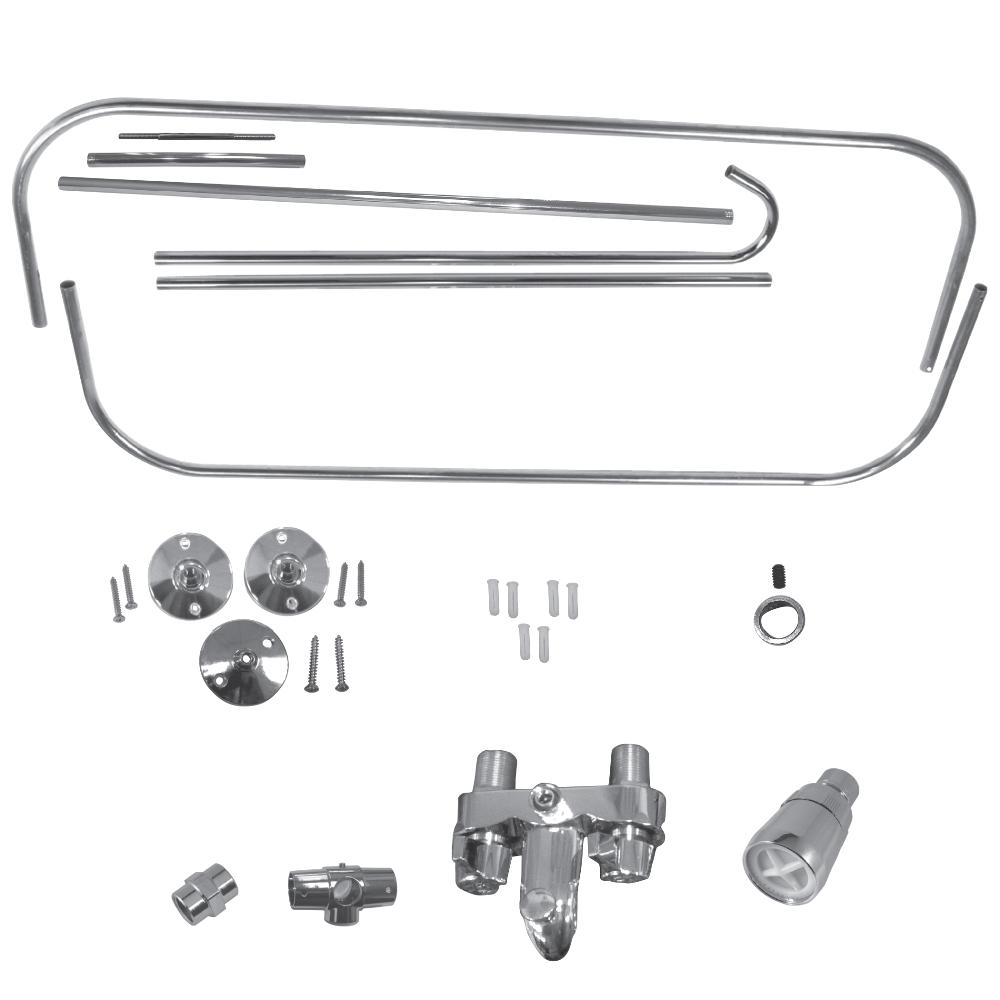Clawfoot Bathtub Kit Add A Shower Kit for Clawfoot Tub In Chrome Plumbing