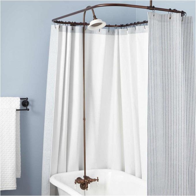clawfoot tub solid brass shower conversion kit 1