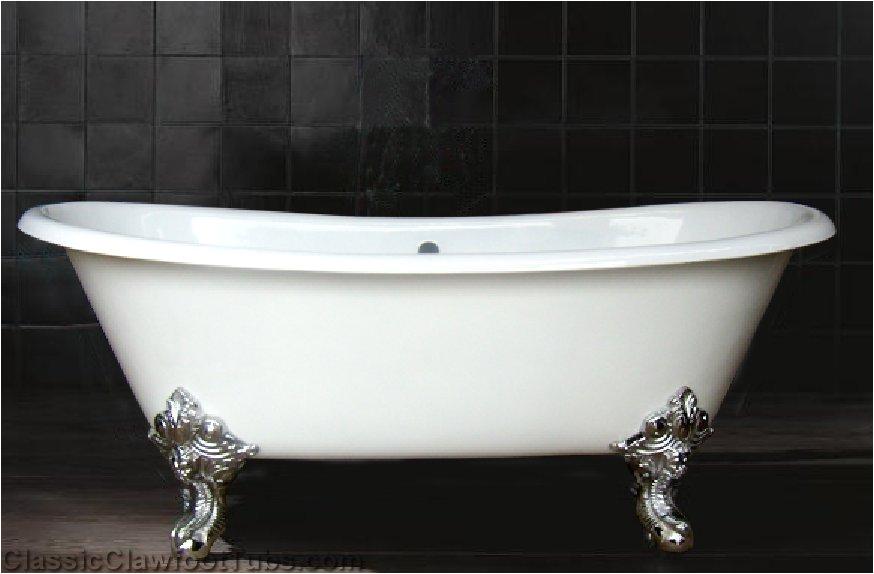 "Clawfoot Bathtub Large 71"" Cast Iron Double Ended Slipper Clawfoot Tub W Imperial"