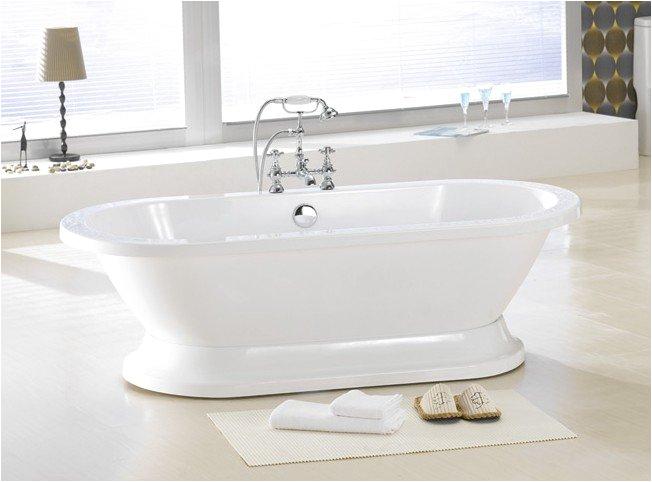 augusta pedestal free standing bathtub