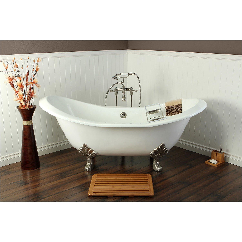 double slipper clawfoot tub