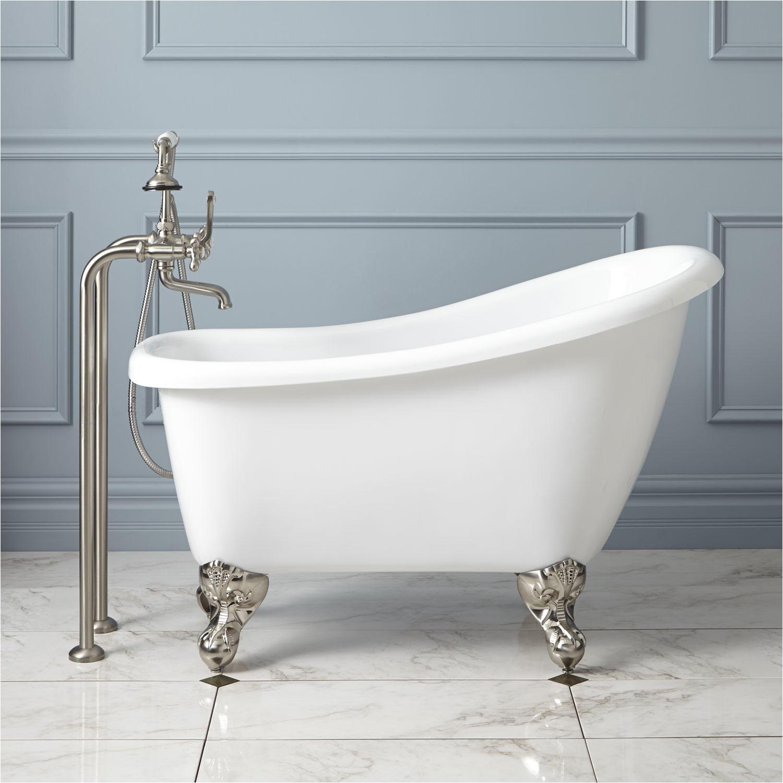 "Clawfoot Bathtub Prices 43"" Carter Mini Acrylic Clawfoot Tub Bathroom"